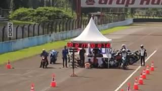 Satria F150 Injeksi Vs Honda Sonic 150R (SENTUL)