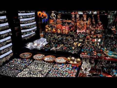 Shopping market in ubud bali indonesia