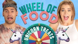 UNICORN RICE KRISPIE TREAT CHALLENGE?! Wheel of Food w/ Rajiv Dhall & Griffin Arnlund