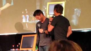 Jensen crashing Misha and Sebastian's panel