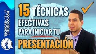 Como Hacer un Discurso: 15 Técnicas Efectivas Para Iniciar Tu Presentación | Tecnicas de Oratoria