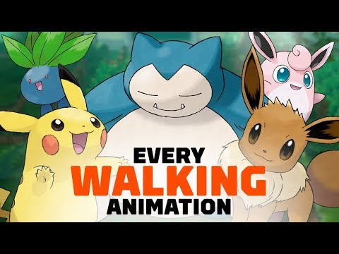 All 171 Pokemon Walking Animations in Let s Go Pikachu and Eevee