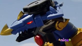 Power Rangers Ninja Steel - Presto Change-O - Megazord Fight (Dragon Zord / Episode 4)