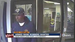 Police looking for two men involved in bank robbery
