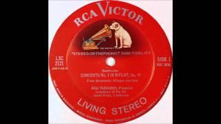 Beethoven, Piano Concerto No 2 in Bb, Op 19 , 1STmov, Rubinstein
