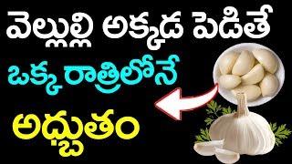 వెల్లుల్లి అక్కడ పెడితే ఒక్క రాత్రిలోనే అద్భుతం || Garlic Health Benefits In Telugu #PlayEven