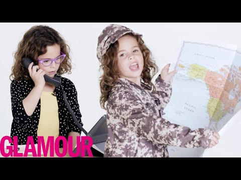 6-Year-Old Tries 57 Jobs For The First Time | Glamour