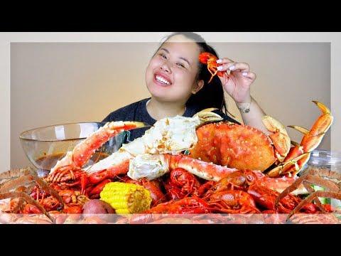 MUKBANG SEAFOOD BOIL! 먹방 (EATING SHOW!) DUNGENESS CRAB + KING CRAB + CRAWFISH + MUSSELS