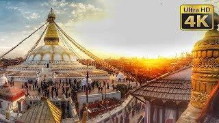 Boudhanath Stupa - 4K Aerial Drone + Stock Footage