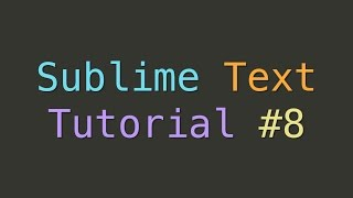 Sublime Text Create New Snippet (Tutorial #8)