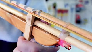 How to make a semi-automatic Rubber Band Gun with a LASER SIGHT- Tutorial
