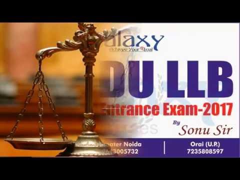 Strategy To Crack DU LLB Entrance Exam - 2017 By Sonu Sir