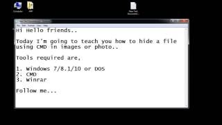 Hide files in Image or photo using Command Prompt (CMD) trick- 2016