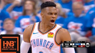 Oklahoma City Thunder vs Portland Trail Blazers - Game 4 - 1st Qtr Highlights | 2019 NBA Playoffs