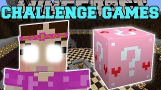 Minecraft: GIANT JEN CHALLENGE GAMES - Lucky Block Mod - Modded Mini-Game