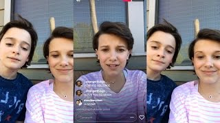 Millie Bobby Brown & Noah Schnapp   Instagram Live Stream   8 April 2017 [ Without Yellow Sides ]