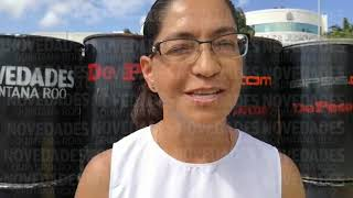 Novedades de Q. Roo dona contenedores para la basura