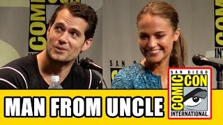 The Man from UNCLE Comic Con Panel - Henry Cavill, Alicia Vikander, Armie Hammer, Elizabeth Debicki