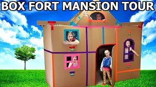 Vaulted Ceilings in my GIANT BOX FORT MANSION! PAPA JAKE Inspired Challenge!! Tour & Movie Night!!!