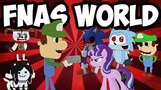 FNAS WORLD #9 | ALL CHARACTERS FOUND | TRUE BOSS DEFEATED | LUIGI ENDS THE GAME
