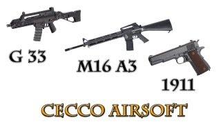 Airsoft Action - G33 ICS, M16 A3 Ras ICS,Colt 1911 KWC - deathmatch con respawn fisso -Cecco Airsoft