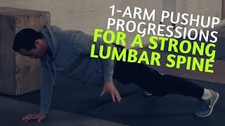 1-arm Pushup Progressions - Multifidus Exercise For A Strong Lumbar Spine