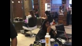 Actres Arpita chatterjee hair cutting scean