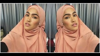 tutorial shawl terkini ala Elfira Loy