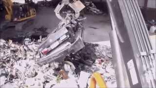 Metal Recycling - Aljon Baler Crushing Cars
