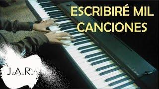 Escribiré mil canciones - Piano