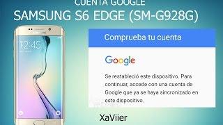 eliminar/quitar cuenta de google samsung/s6/s6edge  (SM-G928G) FRP BYPASS
