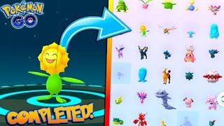 COMPLETING THE GENERATION 2 EVOLUTION ITEM POKEDEX! Evolving to NEW Sunflora in Pokemon Go!