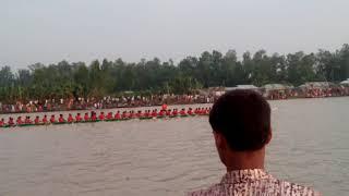 গোবিন্দেশি যমুনা নদী তে নৌকা বাইচ