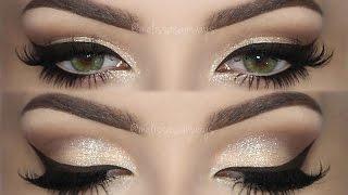 ♡ CHAMPAGNE Smokey Eye Make Up TUTORIAL   Melissa Samways ♡