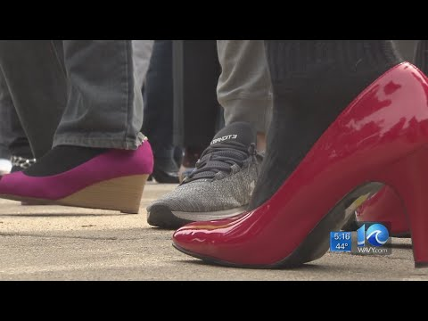 Xxx Mp4 ODU Men Walk A Mile In Heels To Bring Awareness To Sexual Assault 3gp Sex