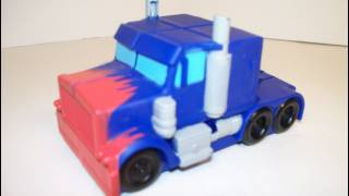 2007 BURGER KING OPTIMUS PRIME TRANSFORMERS MOVIE FAST FOOD TOY REVIEW