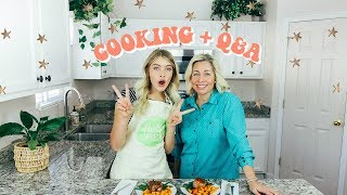 Cooking + Q&A with my MOM!