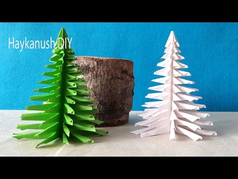 HOW TO MAKE CHRISTMAS TREE WITH PAPER 🎄3 D CHRISTMAS TREE