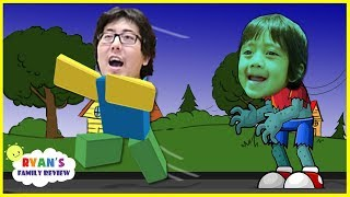 ROBLOX Zombie Rush! Let's Play with Ryan's Family Review!