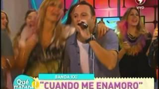 "Banda XXI nos canta ""Cuando me enamoro"""