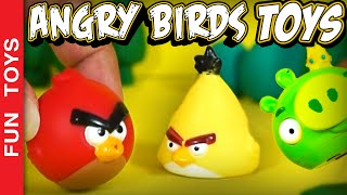 Angry Birds Toons with REAL Toys!!! The Blue