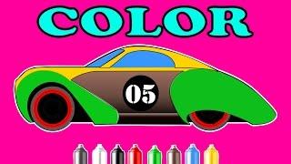 Car Colors For Children | Color Song |  Sport car Vidoe For kids