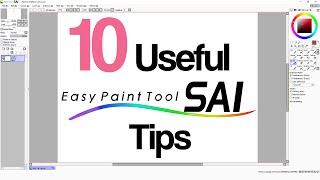 10 Useful PaintTool Sai Tips | عشر نصائح مفيدة لبرنامج الرسم ساي