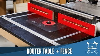 Router Table & Fence In A Table Saw