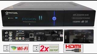 ajouter serveur CCcam par usb STARSAT SR-2000HD ACE  شرح طريقة اضافة سيرفر سسكام