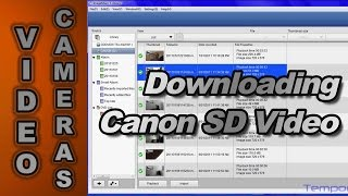 How to Download Video Files from a Canon SD Video Camera