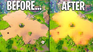 WE COVERED THE *ENTIRE* LOOT LAKE FROM THE MELTED CUBE in Fortnite & This Happened...