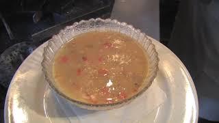 Yellow split pea soup dinner recipe