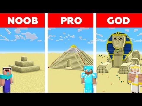 Minecraft NOOB vs PRO vs GOD : SAND BASE CHALLENGE in minecraft / Animation