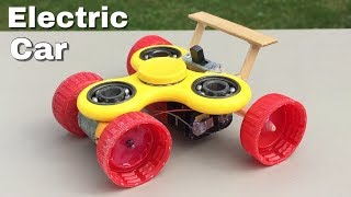 How to Make a Fidget Spinner Car - Simple Electric Car